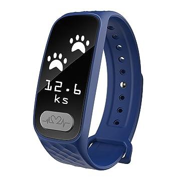 OOLIFENG Actividad Tracker, ECG + PPG Reloj Inteligente Presión Sanguínea Pulsómetros Aptitud Relojes para Android iOS (Azul): Amazon.es: Deportes y aire ...