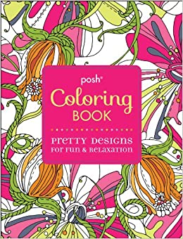 This is a photo of Nerdy Posh Coloring Book Soothing Designs