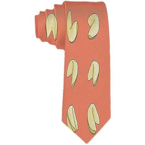 Hombre Amarillo Fortune Cookie Corbata naranja Corbata de seda de ...