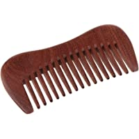 Blesiya Wide Tooth Hair Comb – No Static Detangling Wooden Comb - Natural Aroma Red Sandalwood Detangler Comb