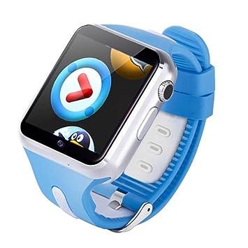 Prom-near Reloj para Niños Impermeable 3G WiFi Niños Inteligente Relojes GPS para Niños Regalos de Cumpleaños (Azul): Amazon.es: Deportes y aire libre
