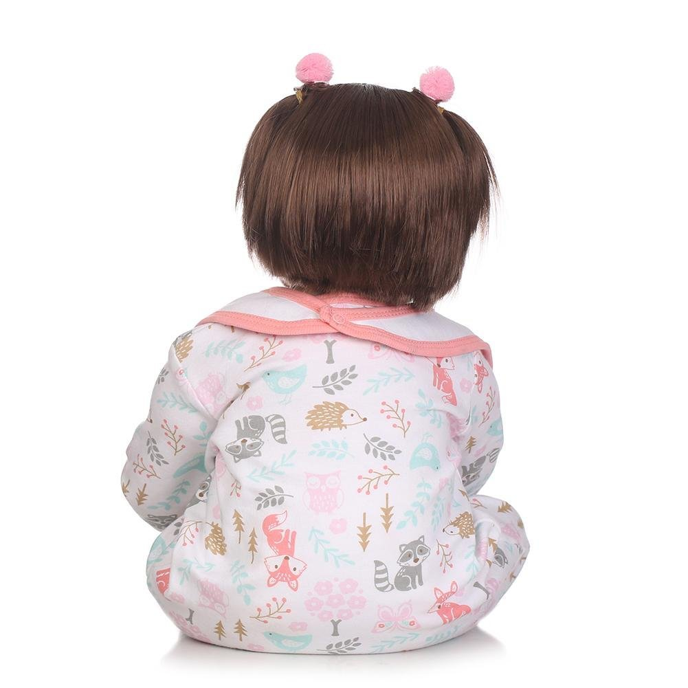 chinatera Kids Toys NPK 3D Cute Artificial Realistic Reborn Baby Doll Soft Silicone Cloth Dolls Kids Playmate by chinatera (Image #3)