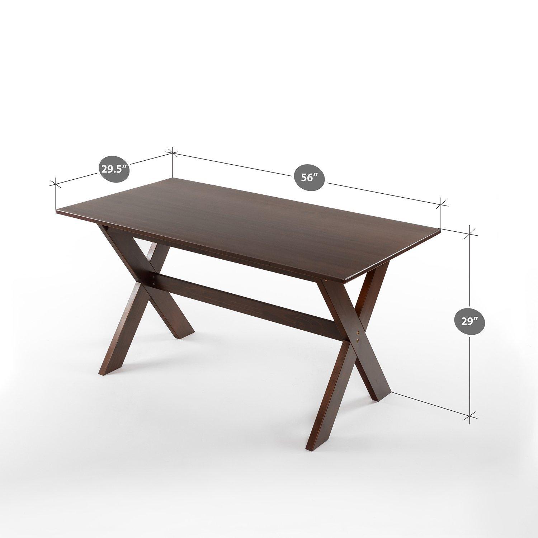 Zinus Trestle Large Wood Dining Table Espresso