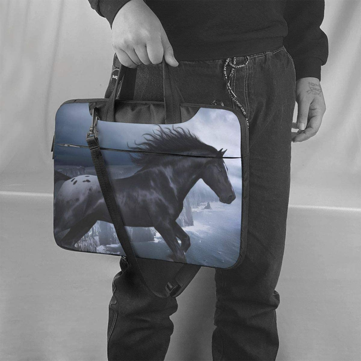 Laptop Bag 15.6 Inch Horses at Night Fashion High Capacity Briefcases for Business and Travel