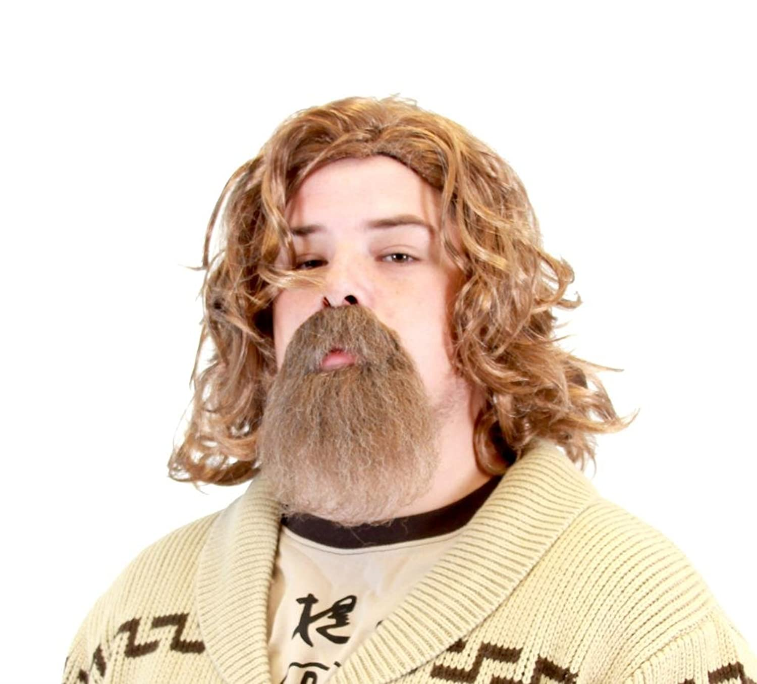 The Big Lebowski Dude Wig and Goatee Costume Set: Amazon.co.uk: Clothing