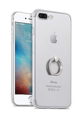 ba93e6e68b Amazon | hoco. スマホケース リング付き iphone 7/8 Plus ケース 透明 ...