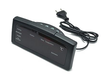 Reloj despertador digital para mesilla, horario y temperatura pantalla, reloj de escritorio para casa