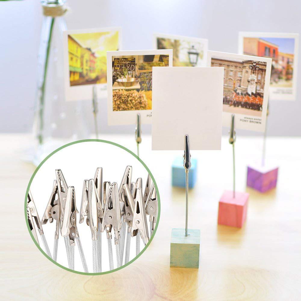 Argento Accessori Decorazione Titolare Clip Foto Carta Nota 50 Pezzi Foto Clip Fermaglio per coccodrillo Memo Clip