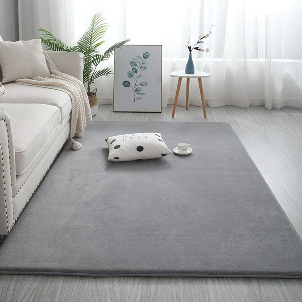 Rectangular Memory Foam Rug,Solid Color Plush Area Rug Large Hypoallergenic Baby Play Mat Thick Velvet Bedroom Beside Rug A Green 60x200cm 24x79inch