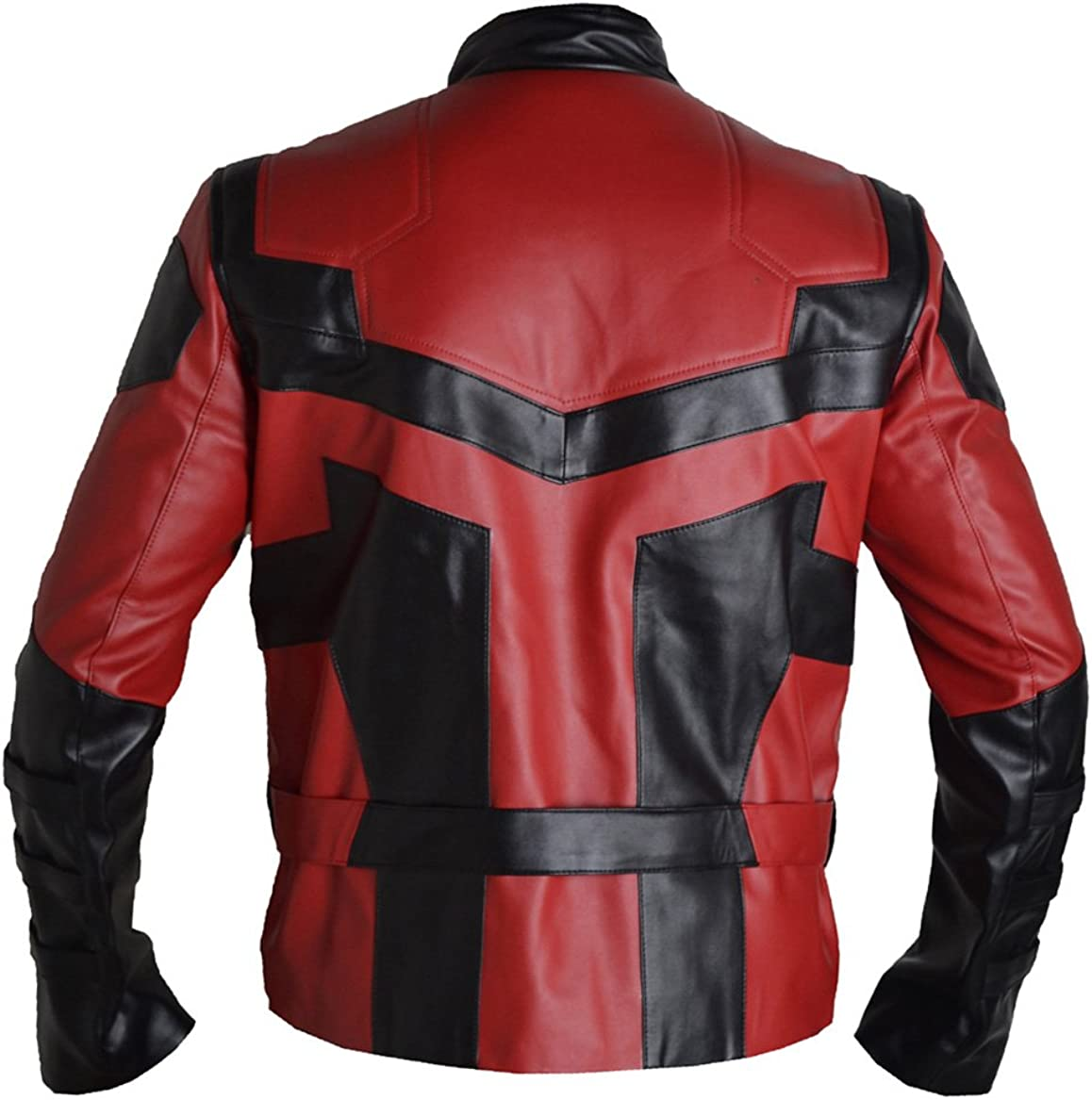 Blazrd Mens Charlie Real Leather Cox Daredevil Fashion Jacket Sheep Red X-Small
