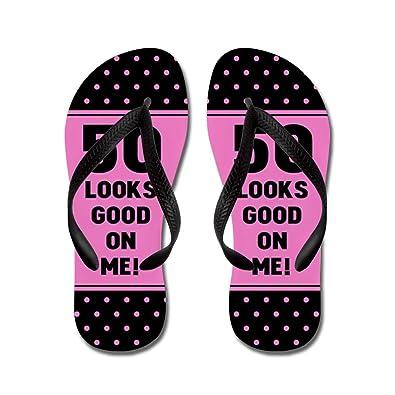 19b7a01c6 CafePress - Funny 50Th Birthday - Flip Flops