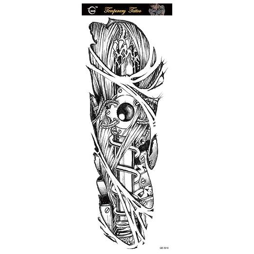 Handaxian Pegatinas de Tatuaje de Brazo Completo Tatuaje ...