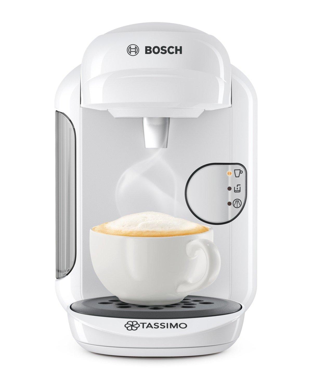 Bosch TAS1404 TASSIMO Vivy 2 Cafetera de cápsulas, 1300 W, color blanco
