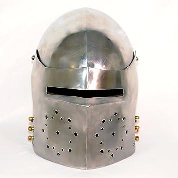 Bacinete Houndskull, Finales del siglo XIV, Casco Bacinete Medieval, Recreación histórica, cascos