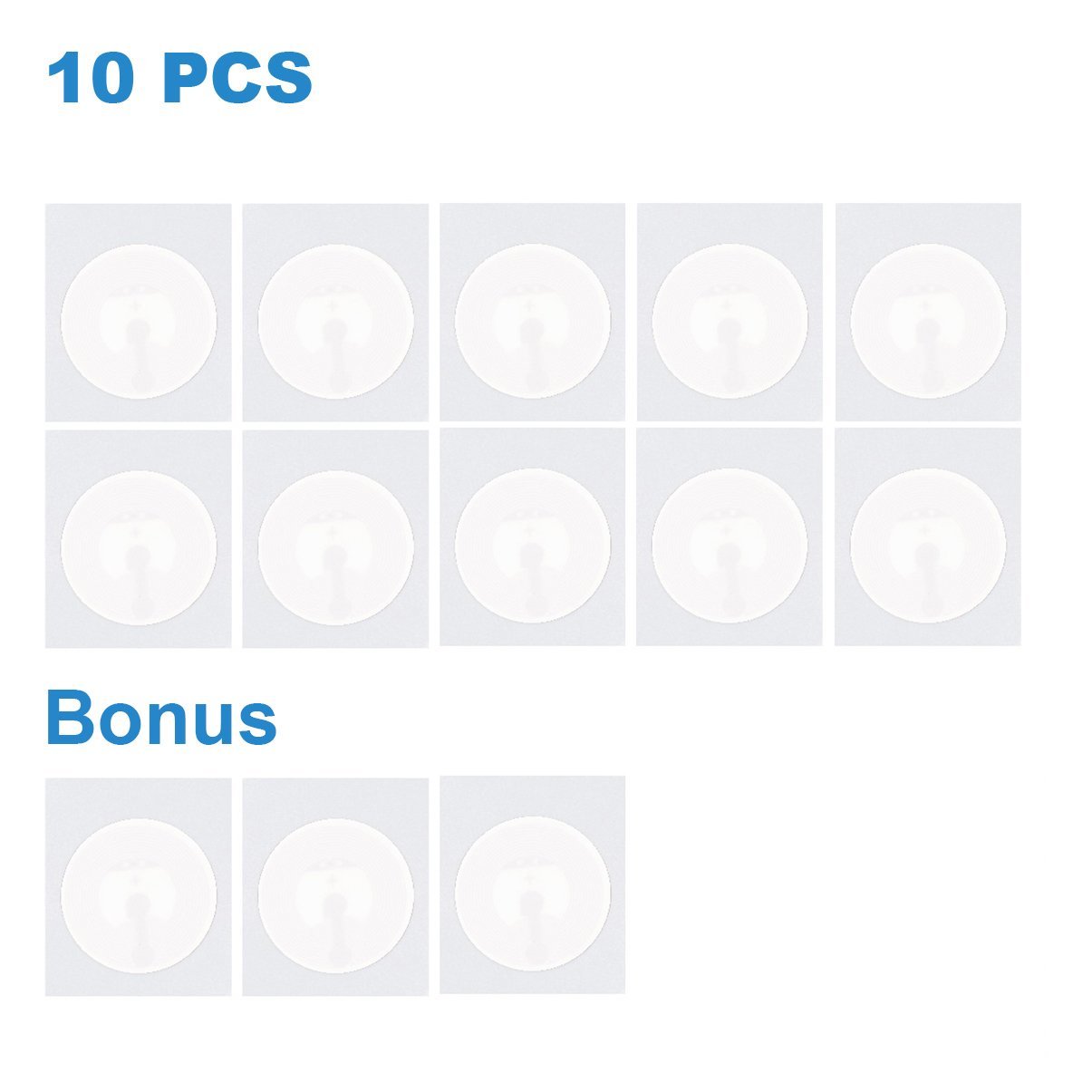 Works with All NFC Enabled Devices By TimesKey 25pcs NFC Tags Sticker NXP Ntag215 Square 1x1 inch Compatible Amiibo Tagmo 504 Bytes Memory Fully Programmable