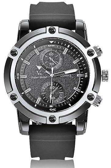 La moda de las marcas de relojes de lujo nueva llegada V6 de los relojes de pulsera sintética de color negro: Amazon.es: Relojes