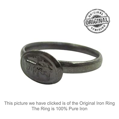 f76f53baf Buy Sitare Pure Handmade Shani Iron Saturn Ring Horse Shoe Challa Energised  Astrology Band Size 14 Online at Low Prices in India | Amazon Jewellery  Store ...