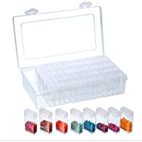 64 Slots Transparent Painting Storage Box Plastic Beads Storage Container Box Diamond Painting Accessory Storage Box for…