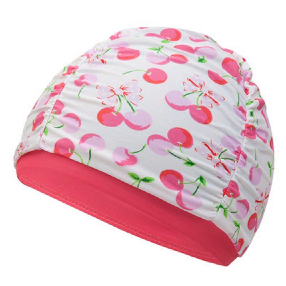 Kylin Express Fun Swimming Cap for Kids & Toddlers -Kids Swim Cap Cloth Swimwear Hair & Ear Protector,J