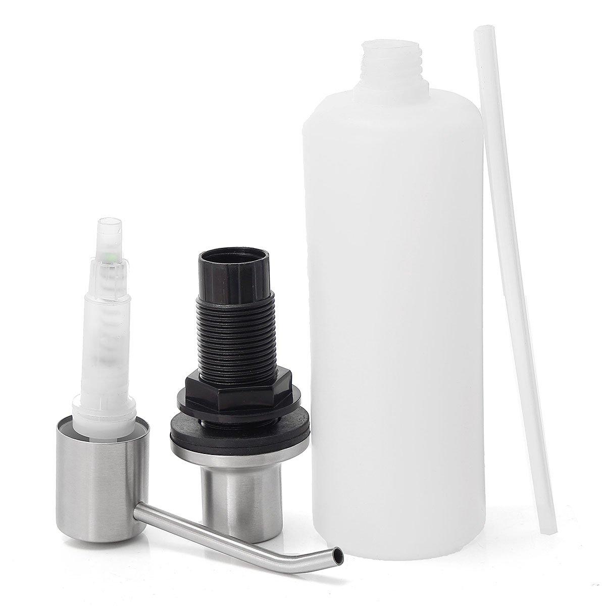 TAPCET 500ml dispensador de jabón/jabón de manos,Tratamiento de luz de acero inoxidable / tratamiento de cableado cepillado: Amazon.es: Hogar