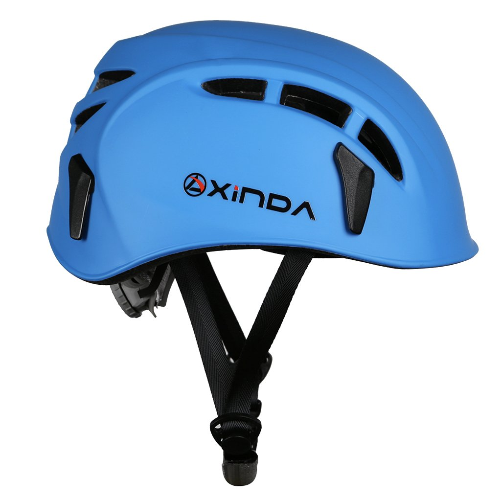 Amazon.com : MonkeyJack Safety Helmet Rock Climbing Tree Caving Kayaking Rappel Rescue Hard Hat - Blue : Sports & Outdoors