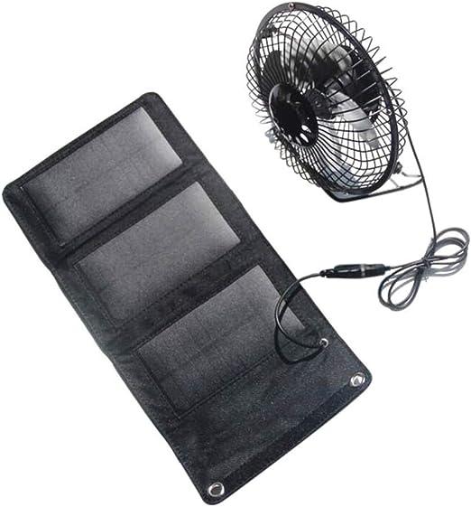 Soulitem- Ventilador Solar de 5 W Mini Ventilador USB portátil con ...