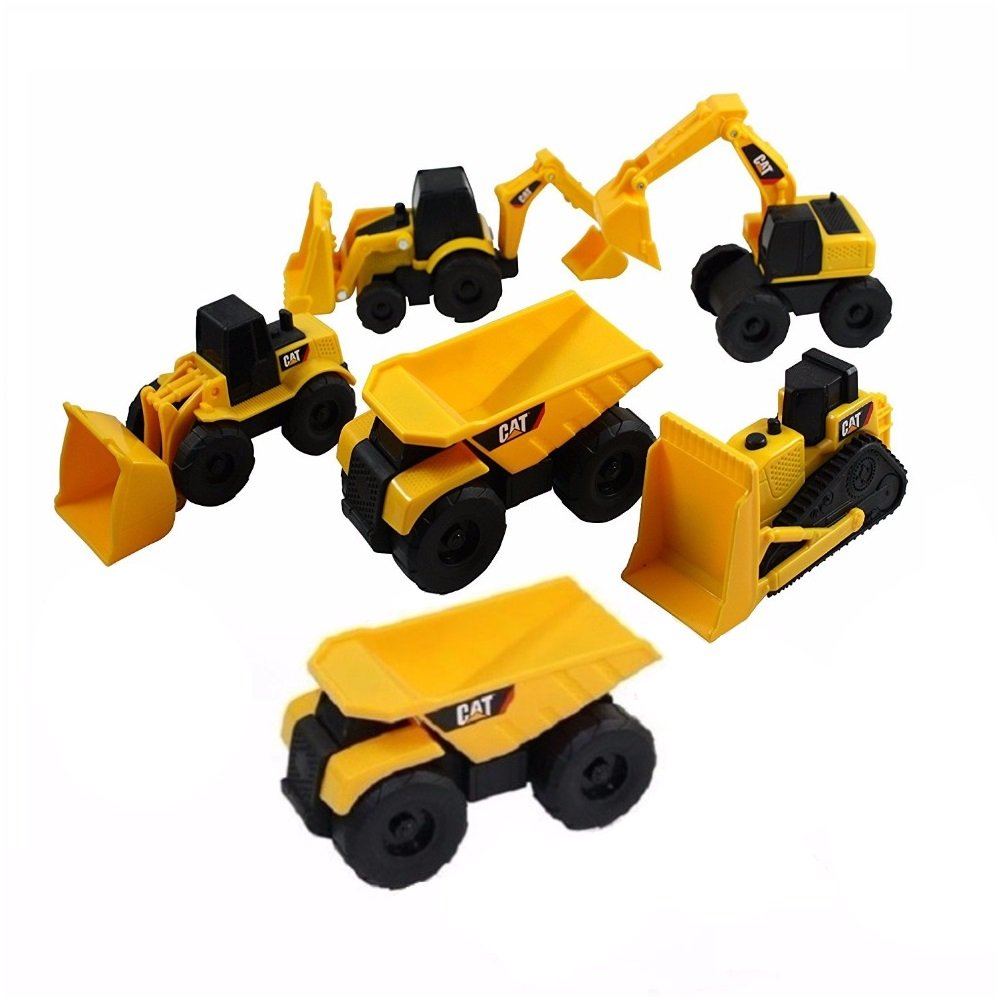 Cat Mini Machine Caterpillar Construction Truck Toy Cars Set Of 6