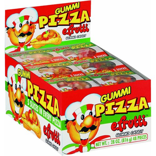 E Frutti Gummi Candy Pizza - 48'S, .6-Ounce (Pack of (Halloween Food Peppers)