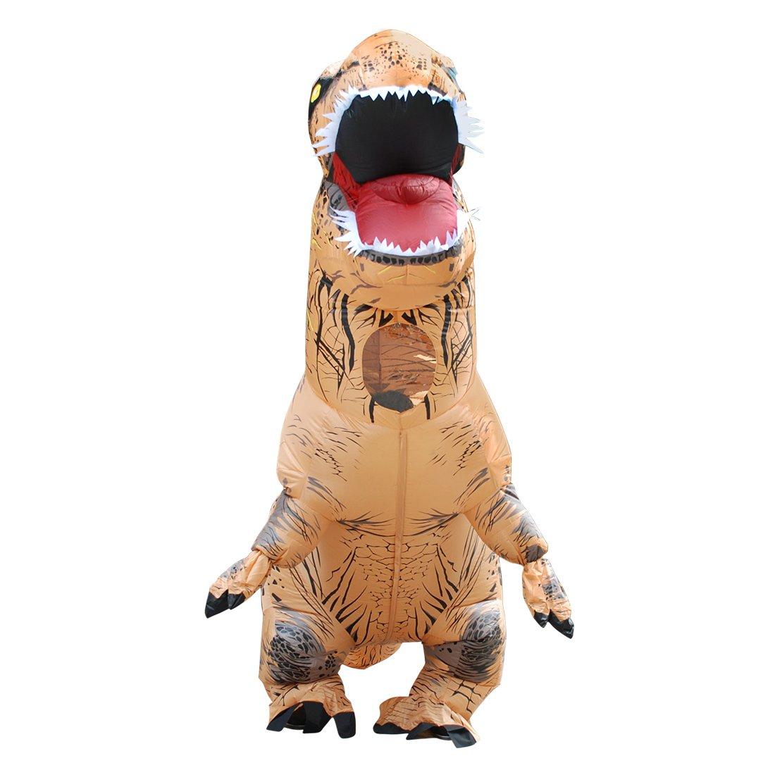 DUBAOBAO Dinosaurier Kostüm Erwachsene Kinder, Kostüm Aufblasbare Dinosaurier Kostüm Halloween Veranstaltung, Halloween Aufblasbare Dinosaurier Kostüm, Aufblasbare Tyrannosaurus Kostüm,