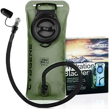 Bolsa de Hidratación 2L, 3L, CybGene Bolsa de Agua Portátil,Libre de BPA, con una Boca Ancha,Tapa a Prueba de Fugas, y Tubo de Aislados, para ...