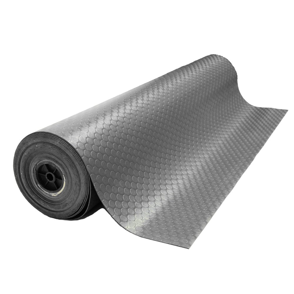 Rubber-Cal ''Coin-Grip Anti-Slip Rubber Mat - 2mm x 4ft x 15ft Rolled Rubber - Dark Gray by Rubber-Cal (Image #4)