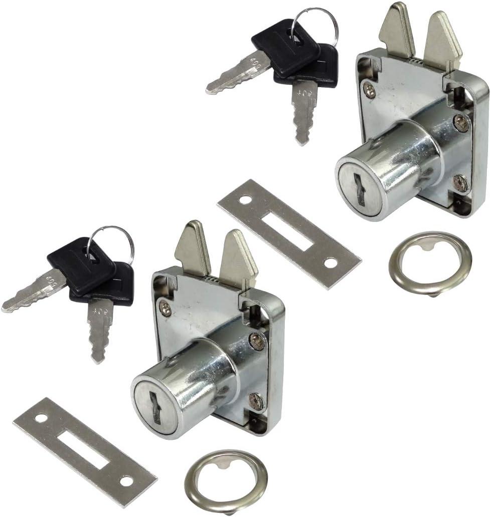 AERZETIX: 2X Cerraduras y Llaves para Puerta corredera de Mueble 40/40mm C41401: Amazon.es: Bricolaje y herramientas