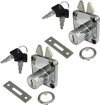 AERZETIX: 2x Cerraduras y llaves para puerta corredera de mueble ...