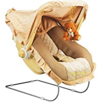 Tender Care 12 in 1 Baby's Musical Carry Cot Bouncer with Storage Box and Mosquito Net (Beige)