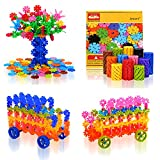 QuadPro Discs Building Blocks 570 Piece with 4 Set Plastic Wheels Kids Preschool Toys Educational Stem Toys for Boy and Girls