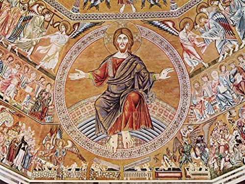 - Lais Jigsaw Florentine Master Around 1300 - Mosaic in The Baptistry of San Giovanni of Florence, Scene: Christ Pantocrator and The Last Judgment 2000 Pieces