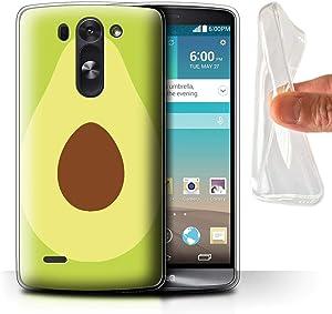 Phone Case for LG G3 Mini S/D722 Fruit Trend Summer Cartoon Skinny Avocado Design Transparent Clear Ultra Soft Flexi Silicone Gel/TPU Bumper Cover