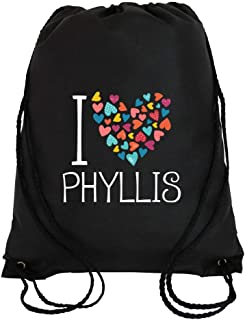 Idakoos I Love Phyllis Colorful Hearts - Prénoms Féminins - Sac À Cordon