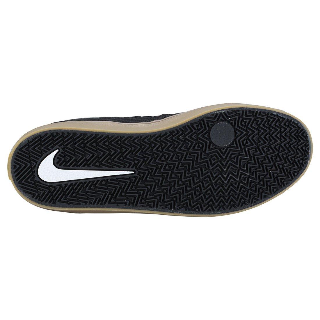 Nike Men's SB Check Solarsoft Canvas Skateboarding Shoes Black/Black-Gum Light Brown 10 by Nike (Image #7)