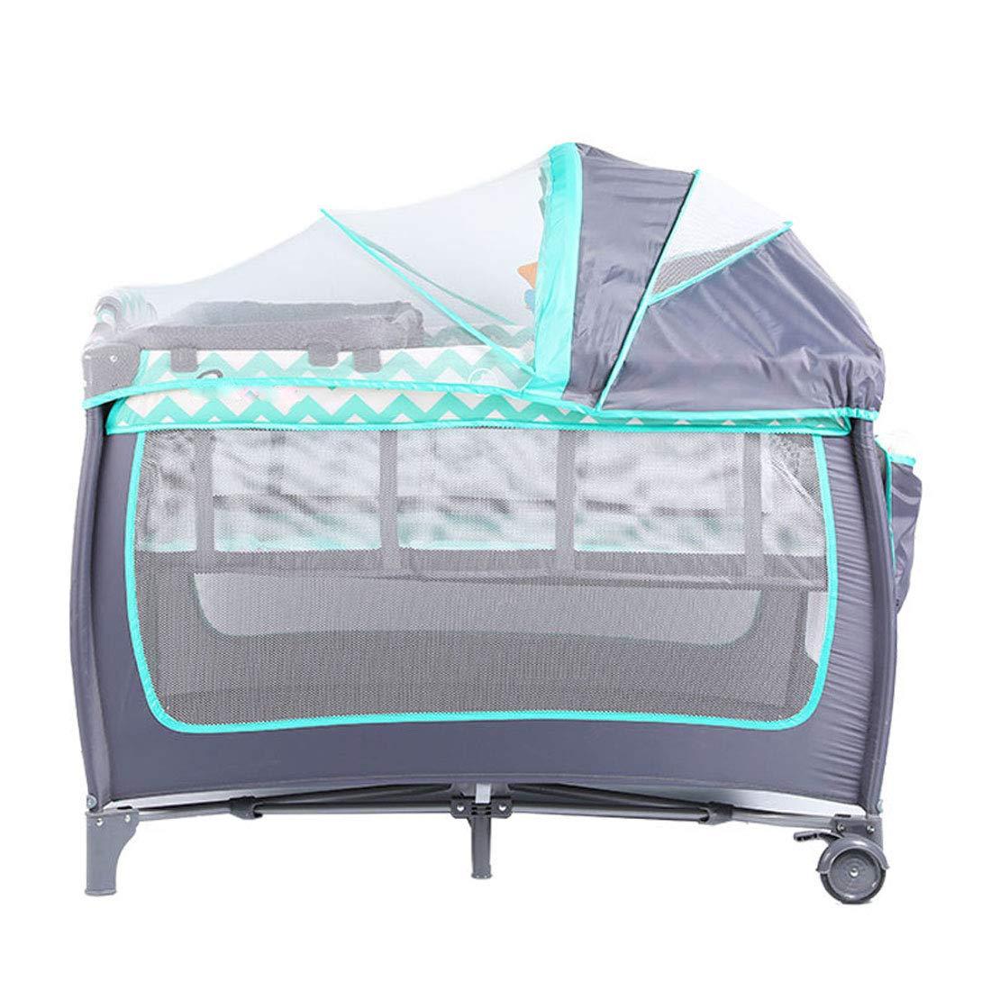 Amazon.com: RZJ-Puzzle Baby Crib Grey Toys Changing Table ...