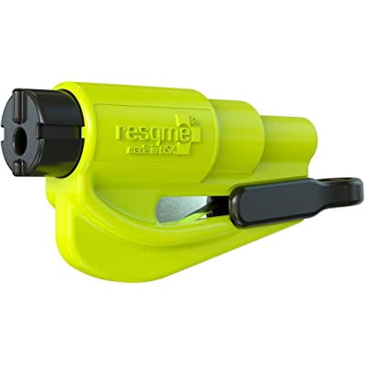 Resqme GBO-RQMTWIN-YELLOWFLUO Herramienta Rompecristales, Amarillo Fluorescente, 1 Unidad