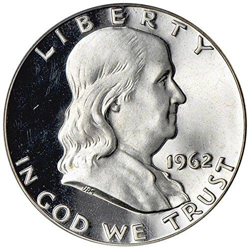 Franklin Half Dollar Silver Coin - 1962 Franklin 90% Silver Proof Half Dollar PF65