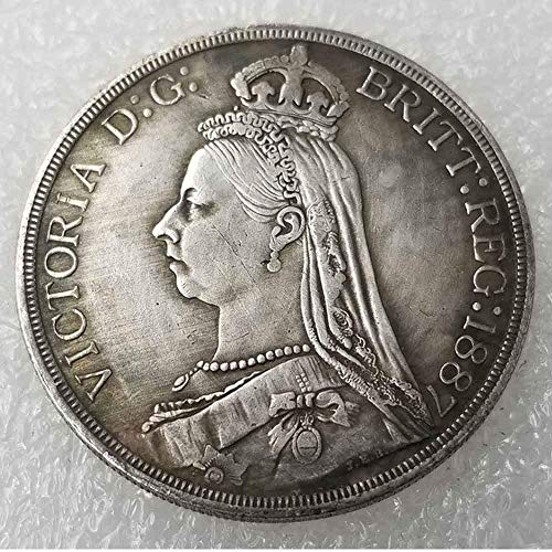 (OppoLing Best Morgan British Old Coin-UK Old Coin- Uncirculated/Collectable Commemorative Coin-Great England Coins - Discover History of Coins Best Product 1887)