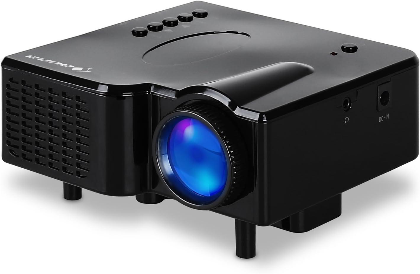 Klarstein Mini Proyector LED VGA AV negro: Amazon.es: Electrónica