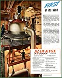 RESIN PRODUCTION KETTLE IN 1945 BLAW-KNOX COMPANY AD Original Paper Ephemera Authentic Vintage Print Magazine Ad / Article