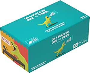 On a Scale of One to T-Rex by Exploding Kittens: A Card Game for People Who Are Bad at Charades - Card Games For Adults, Teens & Kids