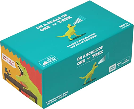 On a Scale of One to T-Rex by Exploding Kittens: A Card Game for People Who Are Bad at Charades - Amazon Exclusive Card Games For Adults