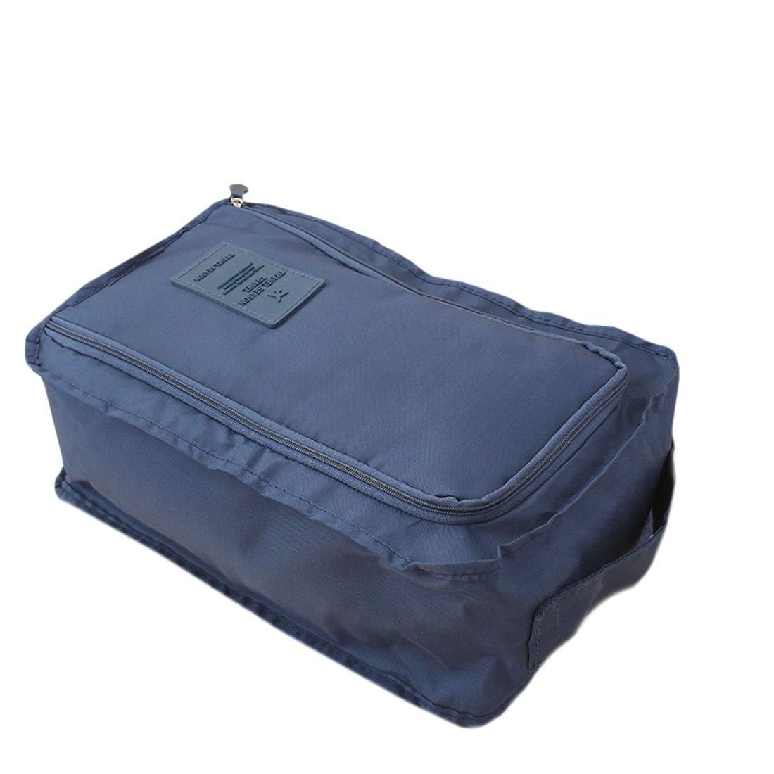 XIAMEND Portable Shoe Storage Bag New Outdoor Travel Portable Waterproof Nylon Shoe Bag Shoe Bag Color : Light blue