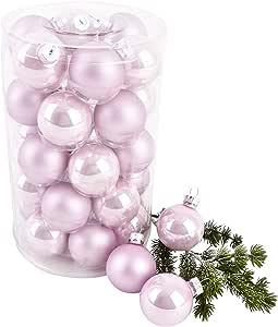 Pack 24 pcs Decoración del Árbol De Navidad Gotas De Bolas ...