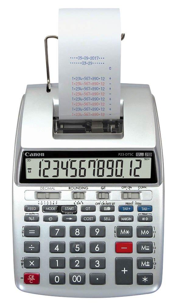 Canon 2303C001aa druckender calcolatrice da tavolo P 23DTSC II, Display LCD P23-DTSC II